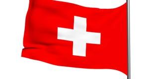 animación de la bandera 3d del franco suizo almacen de metraje de vídeo