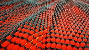Animacja abstrakt fala czerwony kruszcowy ciecz z odbiciami Loopable animacja ilustracji