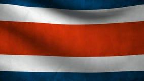 Animacja Costa Rica flaga kraj ilustracja wektor