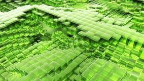 Animacja falowy zielonego szkła ciecz z animowanymi odbiciami Loopable animacja ilustracji