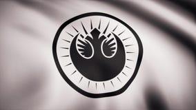 Animacja flaga Nowy Jedi rozkaz Gwiezdna wojna temat Redakcyjny use tylko ilustracji
