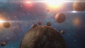 Animacja galaxy i gwiazdy ilustracja wektor