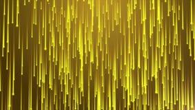 Animacja lata lekkie smugi i linie jarzymy się cząsteczki lub przepływ asteroidy zbiory
