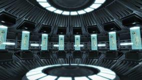 Animacja obcy wśrodku UFO Sprawnie 4K ilustracji
