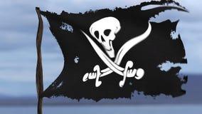 Animacja pirat flaga zbiory