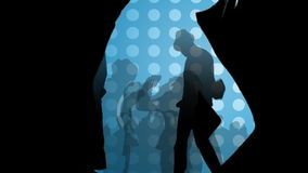 Animacja pokazuje młodzi ludzie w noc klubie ilustracja wektor