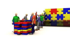 Animacja pokazuje pojęcie praca zespołowa ilustracja wektor