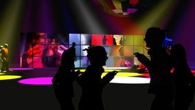 Animacja przedstawia młodzi ludzie tanczyć ilustracja wektor