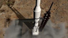 Animacja rakietowy wodowanie zakończenie royalty ilustracja