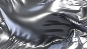 Animacja srebna tkanina ilustracji
