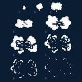Animacja wybuch Animacja dym Sprite dla gier Obraz Royalty Free