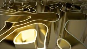 Animacja złocista fali krzywa ilustracja wektor