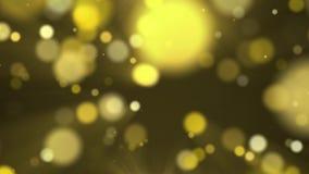 Animacja złocistego pyłu bokeh royalty ilustracja