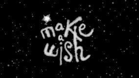 Animado faça um desejo que rotula com canal alfa video estoque