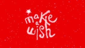 Animado faça um desejo que rotula com Chromakey vermelho filme