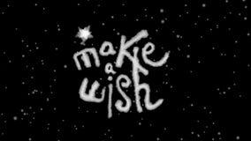 Animado faça um desejo que rotula com resíduo metálico de Luma filme
