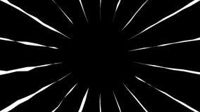 Animado para los colores de fondo blancos y negros de la historieta Estilo del manga de la animación del lazo ilustración del vector