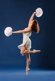 Animadora femenina del bailarín Fotos de archivo