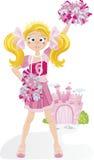 Animadora Princess Fotografía de archivo
