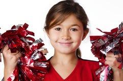 Animadora sonriente bonita de la niña imágenes de archivo libres de regalías