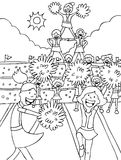 Animadoras - blancos y negros Foto de archivo