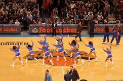 Animadoras de Knicks Foto de archivo libre de regalías