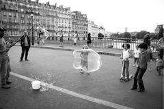 Animaion on the streets of Paris Royalty Free Stock Images