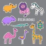 Animais africanos ajustados Fotos de Stock