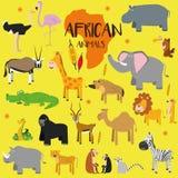Animais africanos ajustados do vetor Fotografia de Stock Royalty Free