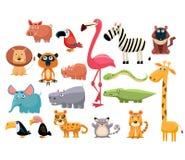 Animais africanos Jogo da ilustração do vetor Imagens de Stock Royalty Free