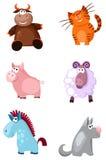 Animais ajustados Imagens de Stock