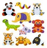 Animais asiáticos do brinquedo Foto de Stock Royalty Free