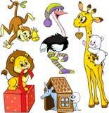 Animais bonitos ilustração stock