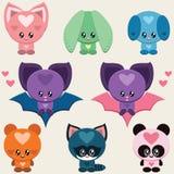 Animais bonitos ajustados Imagens de Stock Royalty Free