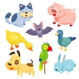 Animais bonitos ajustados Fotografia de Stock Royalty Free