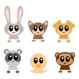 Animais bonitos do bebê ajustados Imagem de Stock Royalty Free