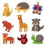Animais bonitos dos desenhos animados Imagens de Stock Royalty Free
