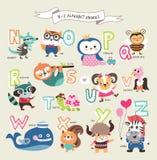 Animais bonitos dos desenhos animados ilustração stock