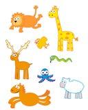 Animais bonitos engraçados ilustração royalty free