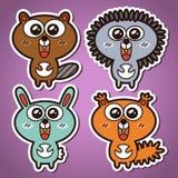 Animais da floresta Imagem de Stock Royalty Free