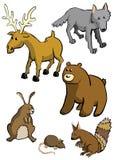 Animais da floresta ilustração royalty free