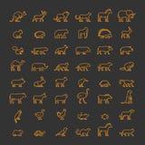 Animais da linha animais de estimação, os selvagens e de exploração agrícola Foto de Stock Royalty Free