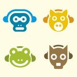 Animais da música (vetor) Fotografia de Stock Royalty Free
