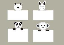 Animais da mistura com placa Foto de Stock