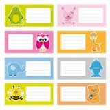 Animais das etiquetas Imagem de Stock Royalty Free