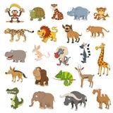 Animais de África ajustados ilustração stock