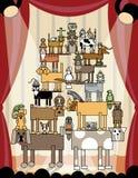 Animais de estimação acrobáticos ilustração stock