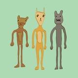 Animais de estimação dos desenhos animados Fotografia de Stock