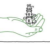 Animais de estimação dos desenhos animados - proteção Fotos de Stock