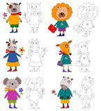 Animais de estimação. Livro de coloração Fotos de Stock Royalty Free